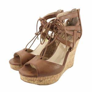 Guess Cork Wedge Sandals 9 M